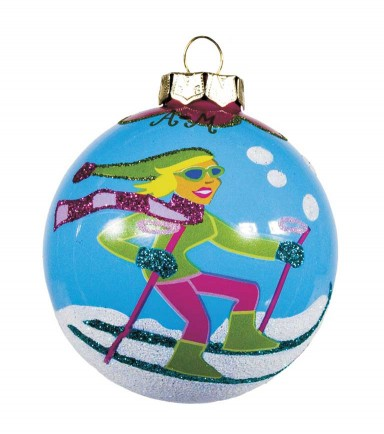 SKI BUNNY ORNAMENT by Angela Moore