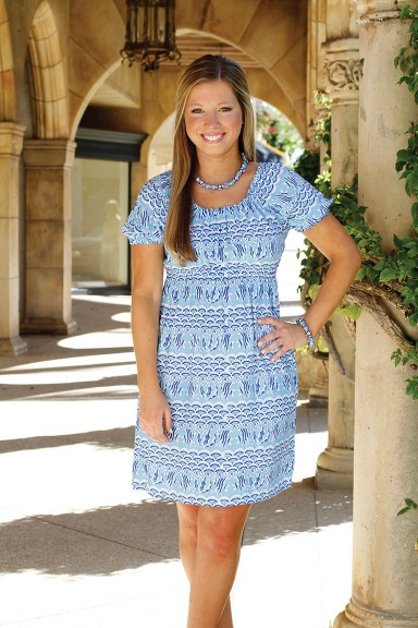 JILL DRESS - MANDALAY BAY BLUE/NAVY