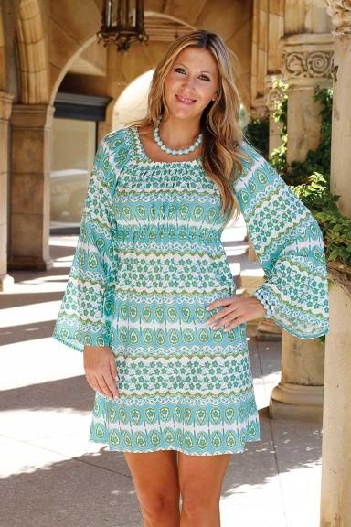 CARLY DRESS - INDIA SPIRIT TURQ/LIME