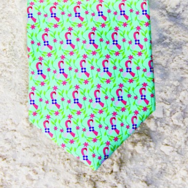 BREAST CANCER AWARENESS TIE - MINT