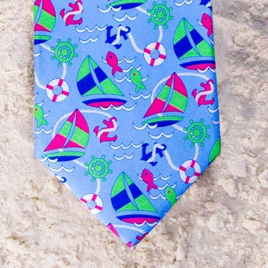 SET SAIL TIE - BLUE  by Angela Moore