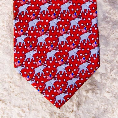 JOIN THE PARTY REPUBLICAN TIE - RED  by Angela Moore