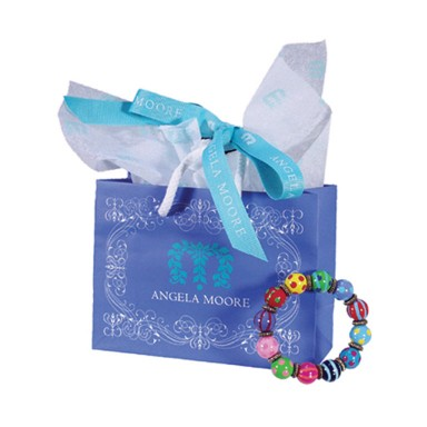 BLUE ANGELA MOORE JEWELRY GIFT BAG