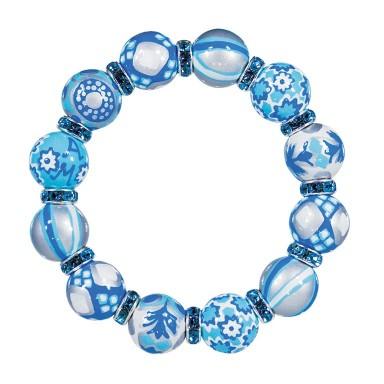 BLUE LAGOON CLASSIC BRACELET - AQUA SWAROVSKI CRYSTALS by Angela Moore