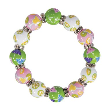 MARGARITA MAMBO CLASSIC BRACELET - CLEAR SWAROVSKI CRYSTALS by Angela Moore - Hand Painted, Beaded Bracelets