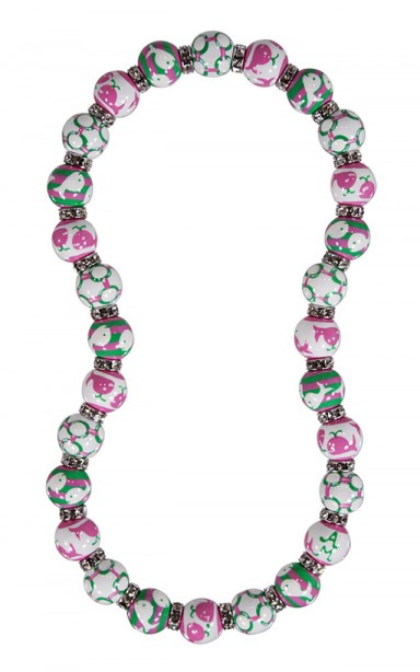 ME331857 - WHALE WATCH PINK/GREEN CLASSIC NECKLACE