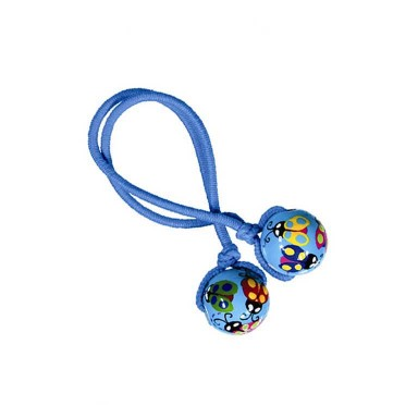 LOVELY LADYBUGS HAIR TIE - BLUE ELASTIC by Angela Moore