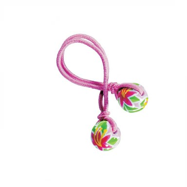 HAPPY HIBISCUS HAIR TIE - PINK ELASTIC by Angela Moore