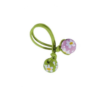 DAISY DAISY PINK GREEN HAIR TIE - LIME ELASTIC by Angela Moore