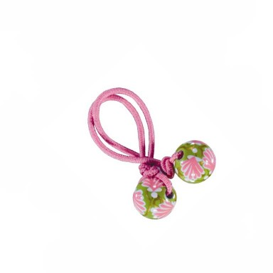 SEA GODESS PINK GREEN HAIR TIE - PINK ELASTIC