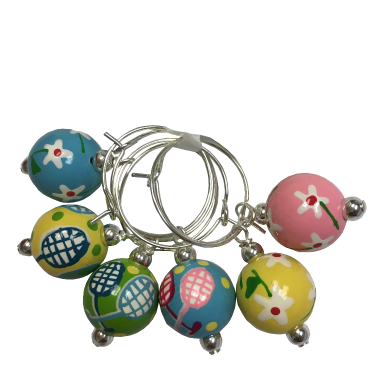TENNIS TALES WINE CHARMS