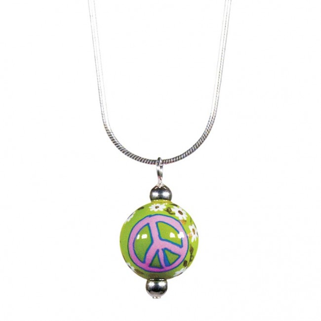 Good Karma Classic Bead Pendant Necklace By Angela Moore Hand