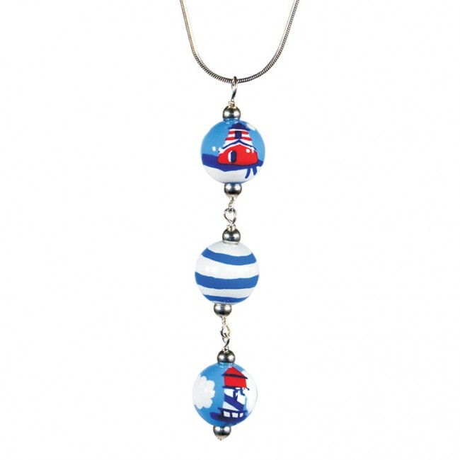 lighthouse bead pendant necklace by angela