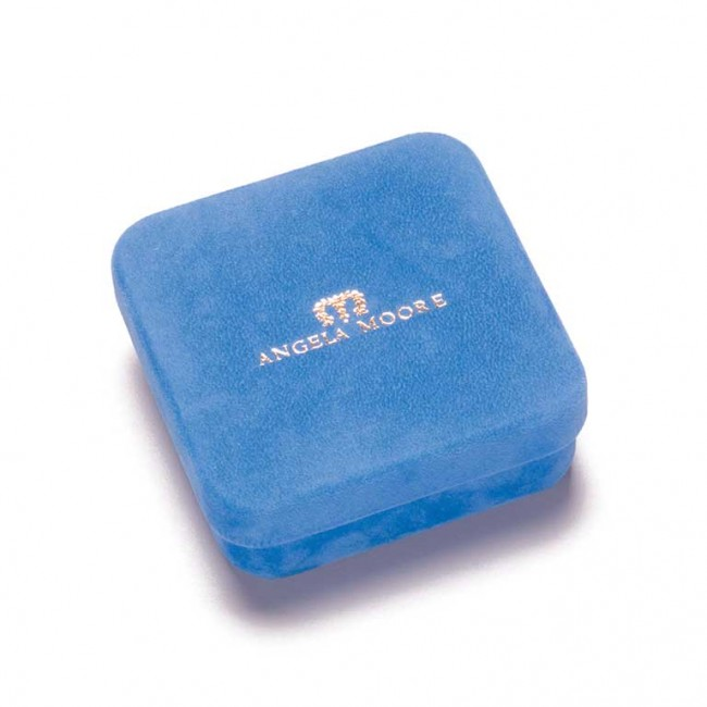 Angela Moore BLUE VELVET JEWELRY BOX