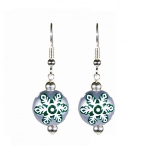 SPARKLE SNOWFLAKES CLASSIC BEAD EARRINGS