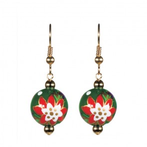PERFECT POINSETTIAS CLASSIC BEAD EARRINGS