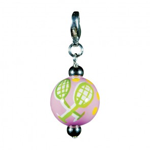 TENNIS TALES CHARM - SILVER by Angela Moore