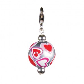 LOVE & KISSES CHARM - SILVER by Angela Moore