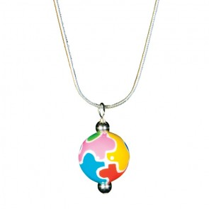 AUTISM AWARENESS CLASSIC BEAD PENDANT