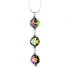 HOT TROPICS TRIPLE BEAD PENDANT