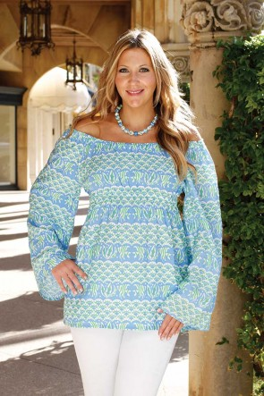 ALEX TOP - MANDALAY BAY BLUE / LIME