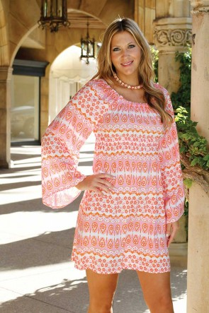 CARLY DRESS - INDIA SPIRIT PINK/ORANGE