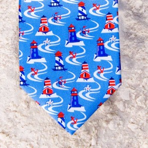 LIGHTHOUSE LANE TIE - BLUE  by Angela Moore