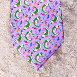 HERE FISHY FISHY TIE - LILAC  by Angela Moore