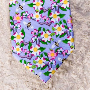 CAROLINA DOGWOOD TIE - LILAC  by Angela Moore