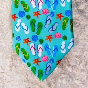 FLIP FLOPS TIE - MINT  by Angela Moore