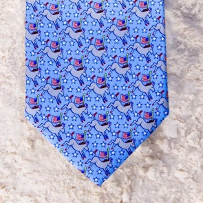 JOIN THE PARTY DEMOCRAT TIE - BLUE  by Angela Moore