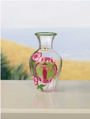 "TOTALLY TOILE VASE - 5.5"" by Angela Moore"