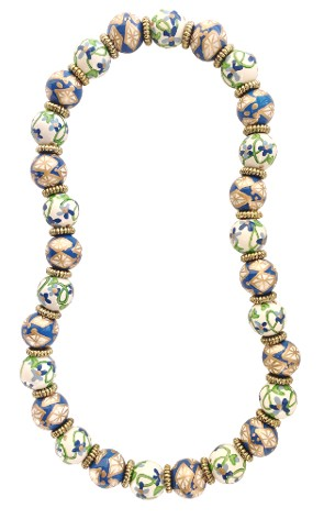 BAVARIAN BLUE CLASSIC NECKLACE W/GOLD