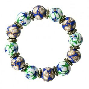 BAVARIAN BLUE CLASSIC BRACELET W/GOLD