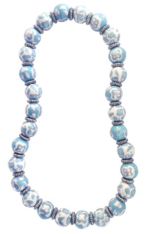 BLUE BELLE CLASSIC NECKLACE W/SILVER