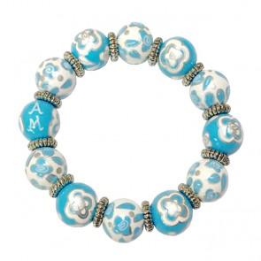 BLUE BELLE CLASSIC BRACELET W/SILVER