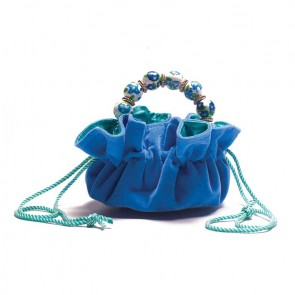 BLUE VELVET DELUXE TRAVEL POUCH