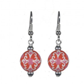 INDIA SPIRIT PINK CLASSIC BEAD EARRINGS