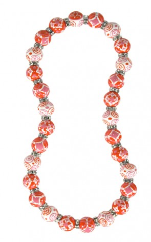 INDIA SPIRIT PINK CLASSIC NECKLACE - CLEAR SWAROVSKI CRYSTALS