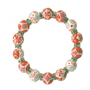 INDIA SPIRIT PINK RELAXED FIT BRACELET - CLEAR SWAROVSKI CRYSTALS