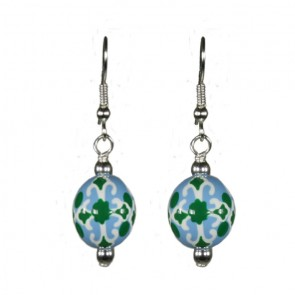 INDIA SPIRIT TURQ CLASSIC BEAD EARRINGS
