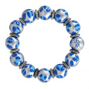 LEOPARD LIFE BLUE CLASSIC BRACELET W/SILVER
