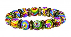 RAVISHING RAINBOWS LITTLE GIRLS PETITE BRACELET WITH GOLD
