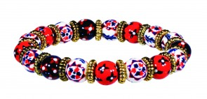 AMERICANA PETITE BEAD BRACELET WITH SILVER