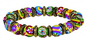 RAVISHING RAINBOW PETITE BEAD BRACELET WITH SILVER
