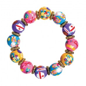 NURSE NANCY CLASSIC BRACELET - GOD by Angela Moore - Hand Painted, Beaded Bracelet