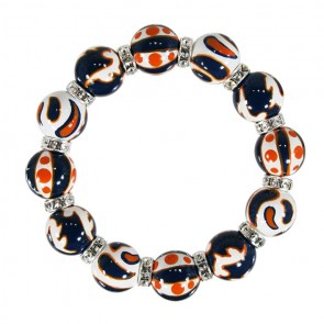ORANGE/NAVY CRUSH CLASSIC BRACELET