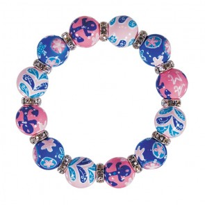 BEACHY KEEN CLASSIC BRACELET - CLEAR SWAROVSKI CRYSTALS by Angela Moore - Hand Painted, Beaded Bracelets