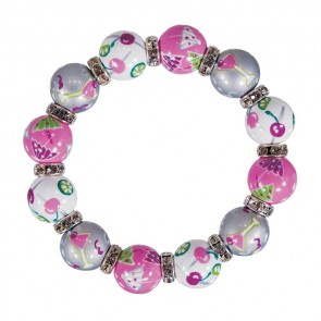 COOL COSMO CLASSIC BRACELET - CLEAR SWAROVSKI CRYSTALS by Angela Moore - Hand Painted, Beaded Bracelets