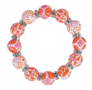 INDIA SPIRIT PINK CLASSIC BRACELET - CLEAR SWAROVSKI CRYSTALS